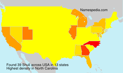 Surname Shuli in USA