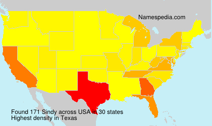 Surname Sindy in USA