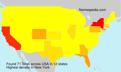 Surname Sinel in USA