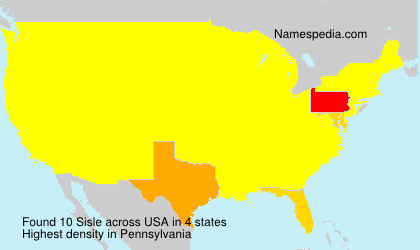 Surname Sisle in USA