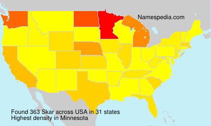 Surname Skar in USA