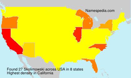 Surname Skolimowski in USA