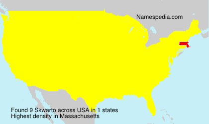 Surname Skwarto in USA