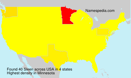 Surname Sleen in USA