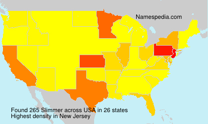 Surname Slimmer in USA