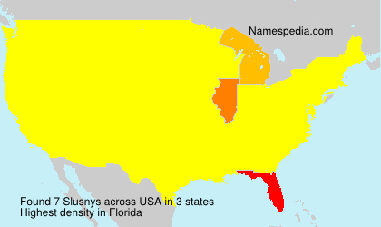 Surname Slusnys in USA
