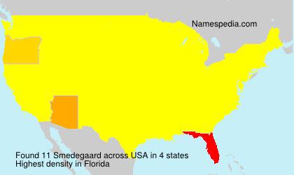 Familiennamen Smedegaard - USA
