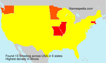 Surname Smedvig in USA