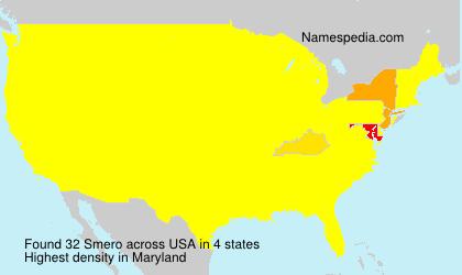 Familiennamen Smero - USA