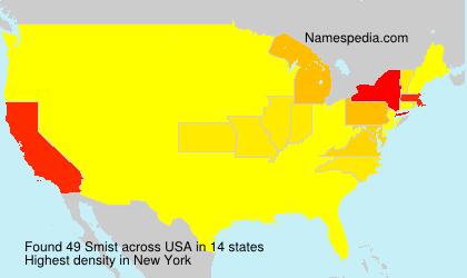 Surname Smist in USA
