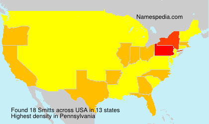 Surname Smitts in USA