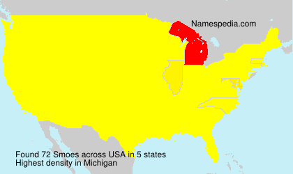Surname Smoes in USA