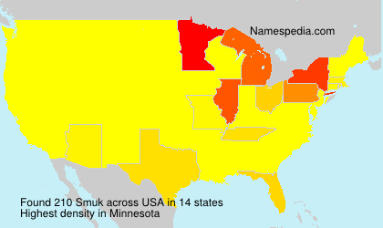 Surname Smuk in USA