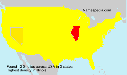 Surname Snelius in USA