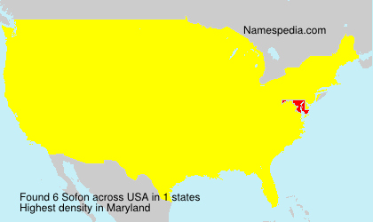 Surname Sofon in USA