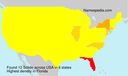 Surname Solide in USA