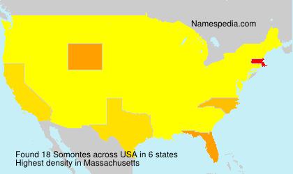 Surname Somontes in USA