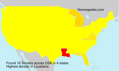 Surname Sondes in USA