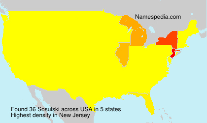 Surname Sosulski in USA