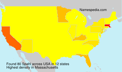 Surname Spahl in USA