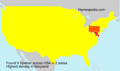 Surname Spekter in USA
