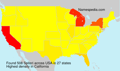 Surname Spiteri in USA