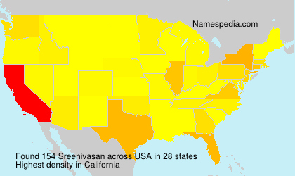 Surname Sreenivasan in USA