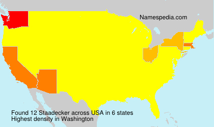Surname Staadecker in USA