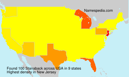 Surname Stanaback in USA
