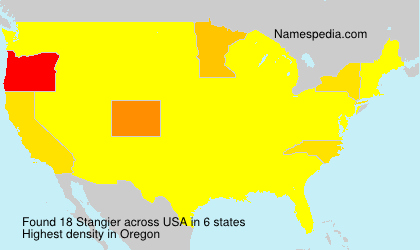Surname Stangier in USA
