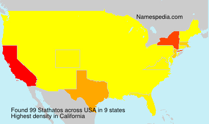 Surname Stathatos in USA