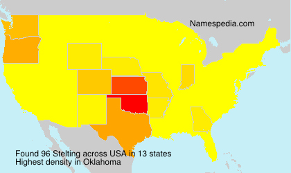 Surname Stelting in USA