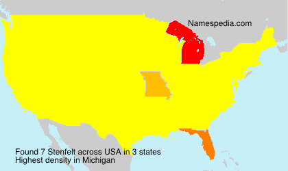 Surname Stenfelt in USA