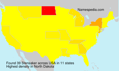 Surname Stensaker in USA