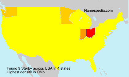 Surname Sterby in USA