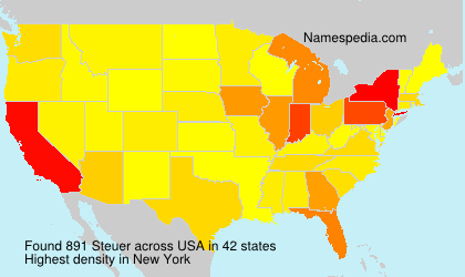 Surname Steuer in USA