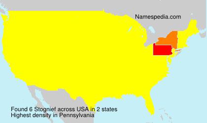 Familiennamen Stognief - USA