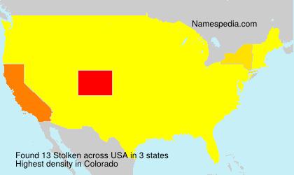 Familiennamen Stolken - USA