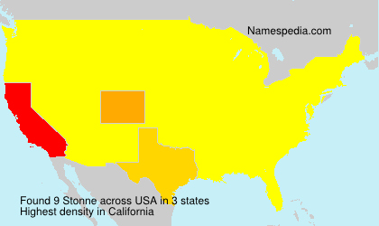 Surname Stonne in USA