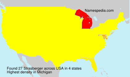 Familiennamen Strasberger - USA