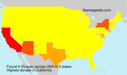 Surname Stuardo in USA