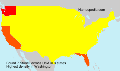 Surname Stunell in USA