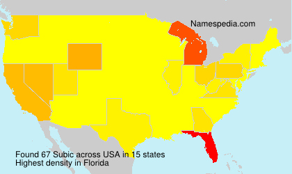 Surname Subic in USA