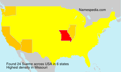 Surname Sueme in USA