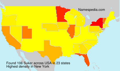 Surname Suker in USA