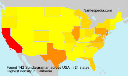 Surname Sundararaman in USA