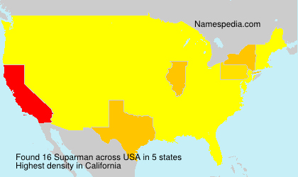 Surname Suparman in USA