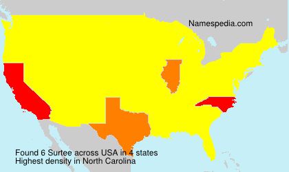 Surname Surtee in USA