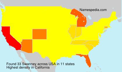 Familiennamen Swanney - USA