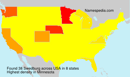 Surname Swedburg in USA